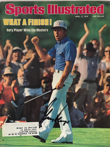 Gary Player Autographed Sports Illustrated April 17 1978