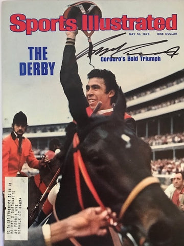 Angel Cordero Signed Sports Illustrated Magazine May 10 1976