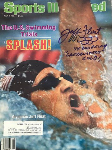 Jeff Float Signed Sports Illustrated Magazine July 9 1984