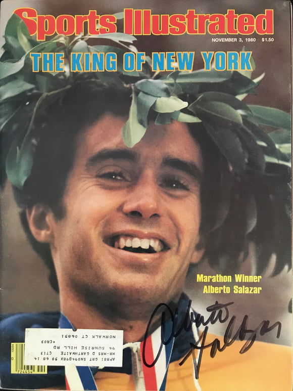 Alberto Salazar Autographed Sports Illustrated November 3 1980