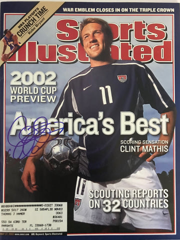 Clint Mathis Autographed Sports Illustrated - May 27 2002