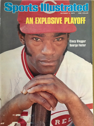 George Foster Signed Sports Illustrated - October 11 1976