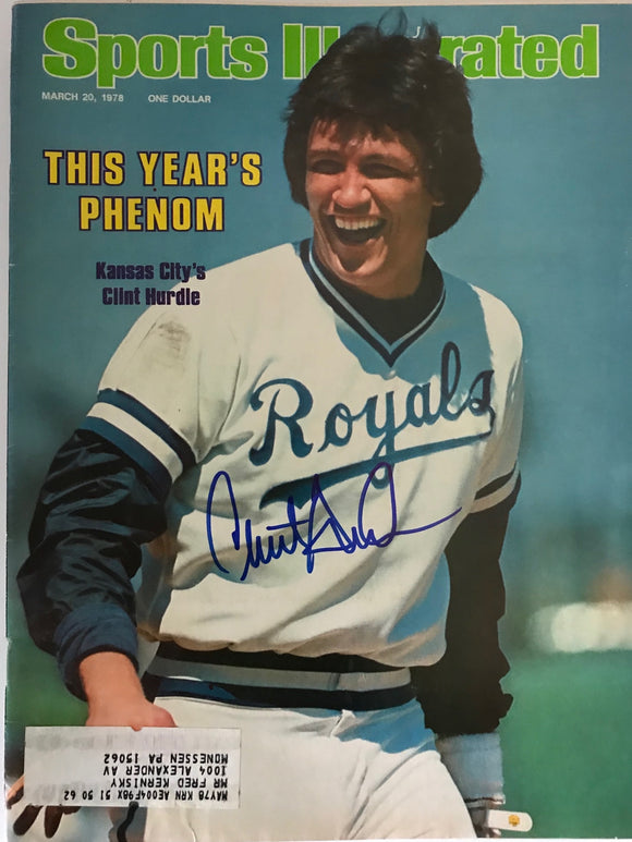 Clint Hurdle Signed Sports Illustrated Magazine - March 20 1978