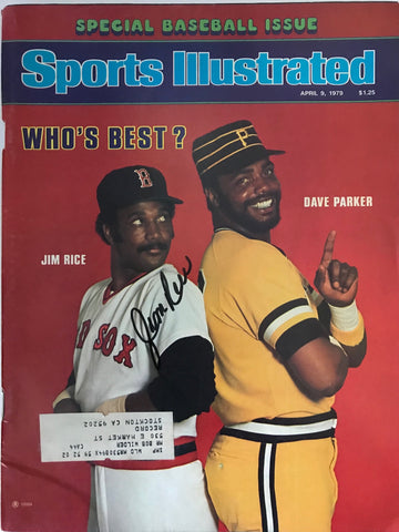 Jim Rice Signed Sports Illustrated Magazine - April 9 1979
