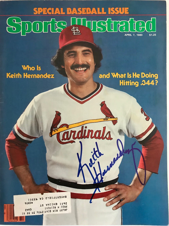 Keith Hernandez Signed Sports Illustrated - April 7 1980