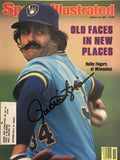 Rollie Fingers Signed Sports Illustrated Magazine - March 16 1981