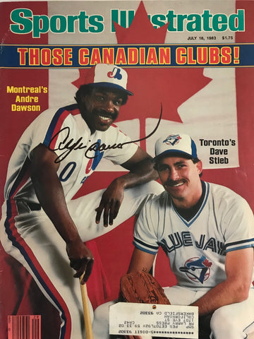 Andre Dawson Signed Sports Illustrated - July 18 1983