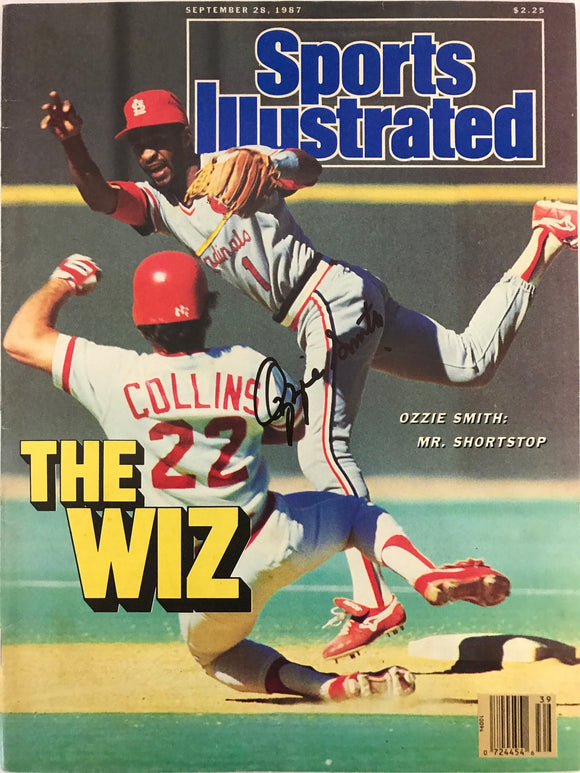 Ozzie Smith Signed Sports Illustrated September 28 1987