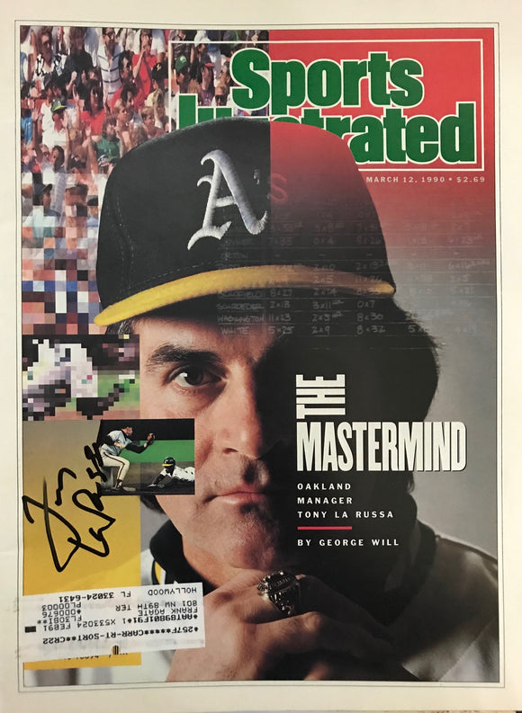 Tony LaRussa Signed Sports Illustrated - March 12 1990