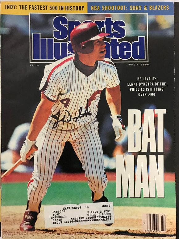 Lenny Dykstra Signed Sports Illustrated - June 4 1990