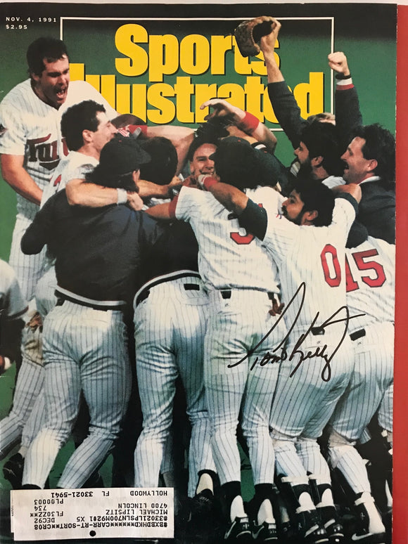Tom Kelly Signed Sports Illustrated Magazine - November 4 1991