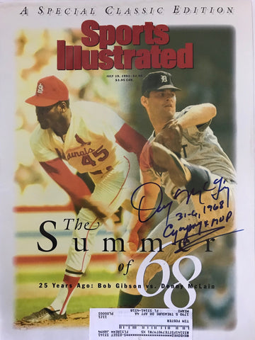 Denny McLain Signed Sports Illustrated Magazine July 19 1993