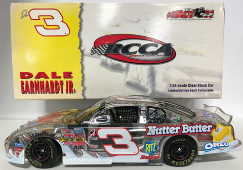 Dale Earnhardt Jr. Unsigned #3 2002 Monte Carlo Clear Car 1:24 Die-Cast Car