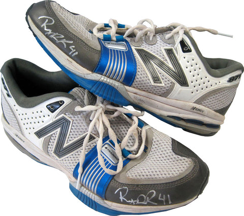 Rubby De La Rossa Autographed Game Used New Balance B-71 Running Shoes