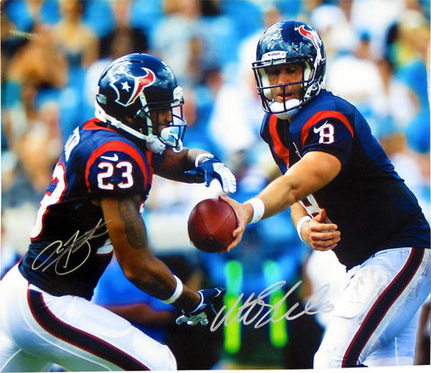Matt Schaub and Arian Foster Autographed 16x20 Photo