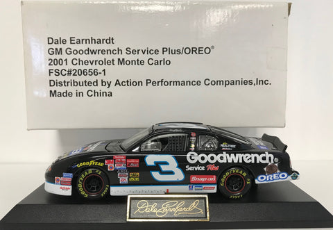 Dale Earnhardt  Unsigned #3 2001 1:43 Scale Die Cast Car