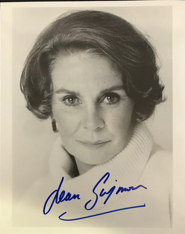 Jean Simmons Autographed Black & White 8x10 Photo