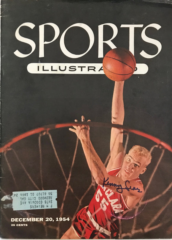 Kenny Sears Signed Sports Illustrated December 20 1954
