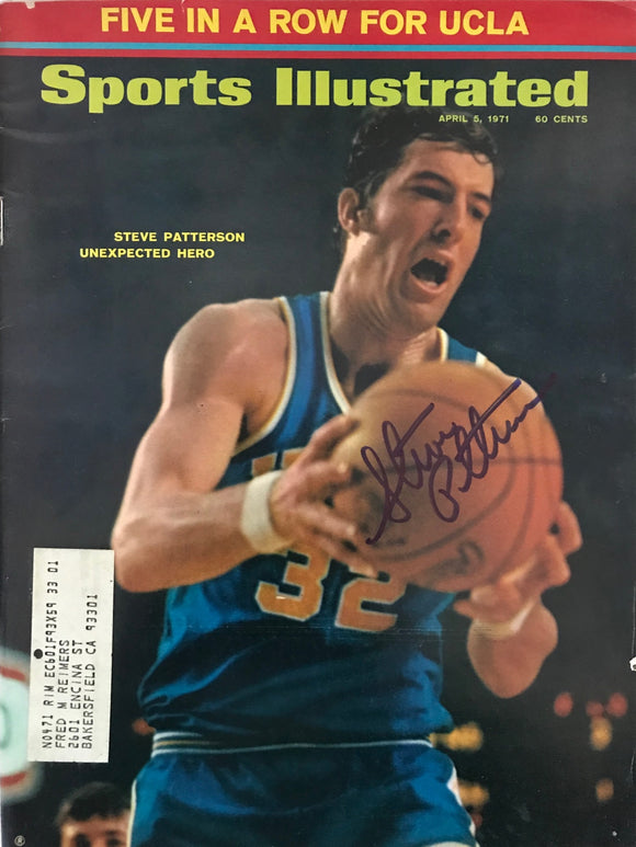 Steve Patterson Signed Sports Illustrated  April 5 1971