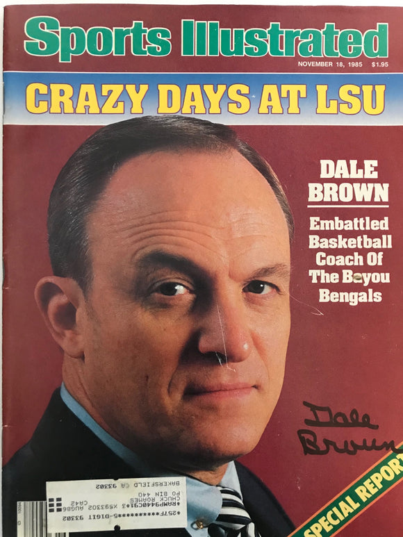 Dale Brown Signed Sports Illustrated November 18 1985