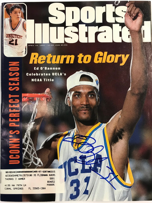 Ed O'Bannon Signed Sports Illustrated April 10 1995