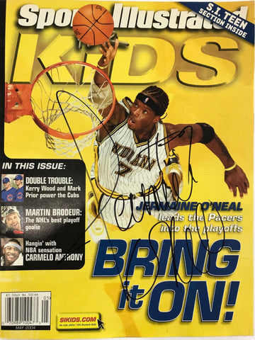 Jermaine O'Neal Signed Sports Illustrated May 2004