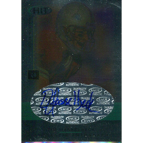Tim Hasselbeck Autographed 2001 Sage Rookie Card