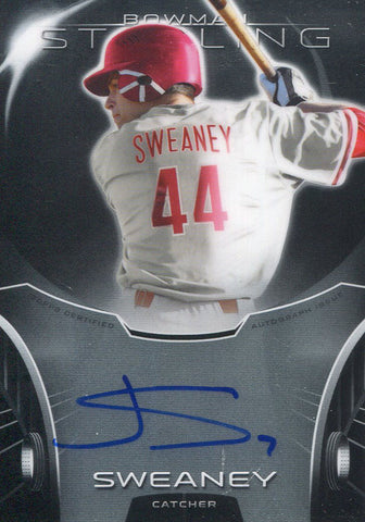 Jake Sweaney Autographed 2013 Bowman Sterling Card