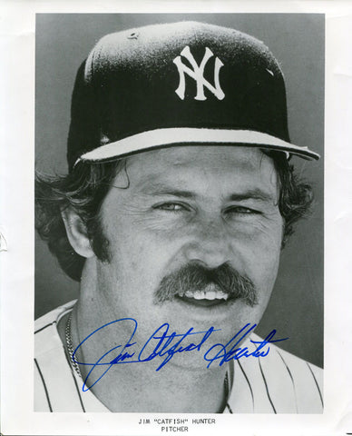 Jim Catfish Hunter Autographed 8x10 Photo