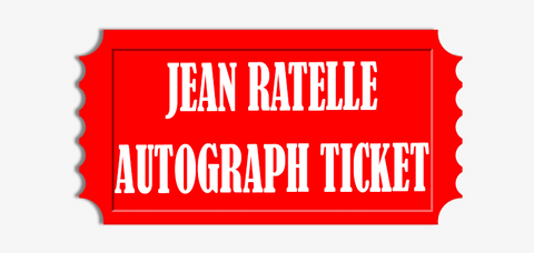 Jean Ratelle Flat Item (Up to 16x20) Pre-Order Autograph Ticket