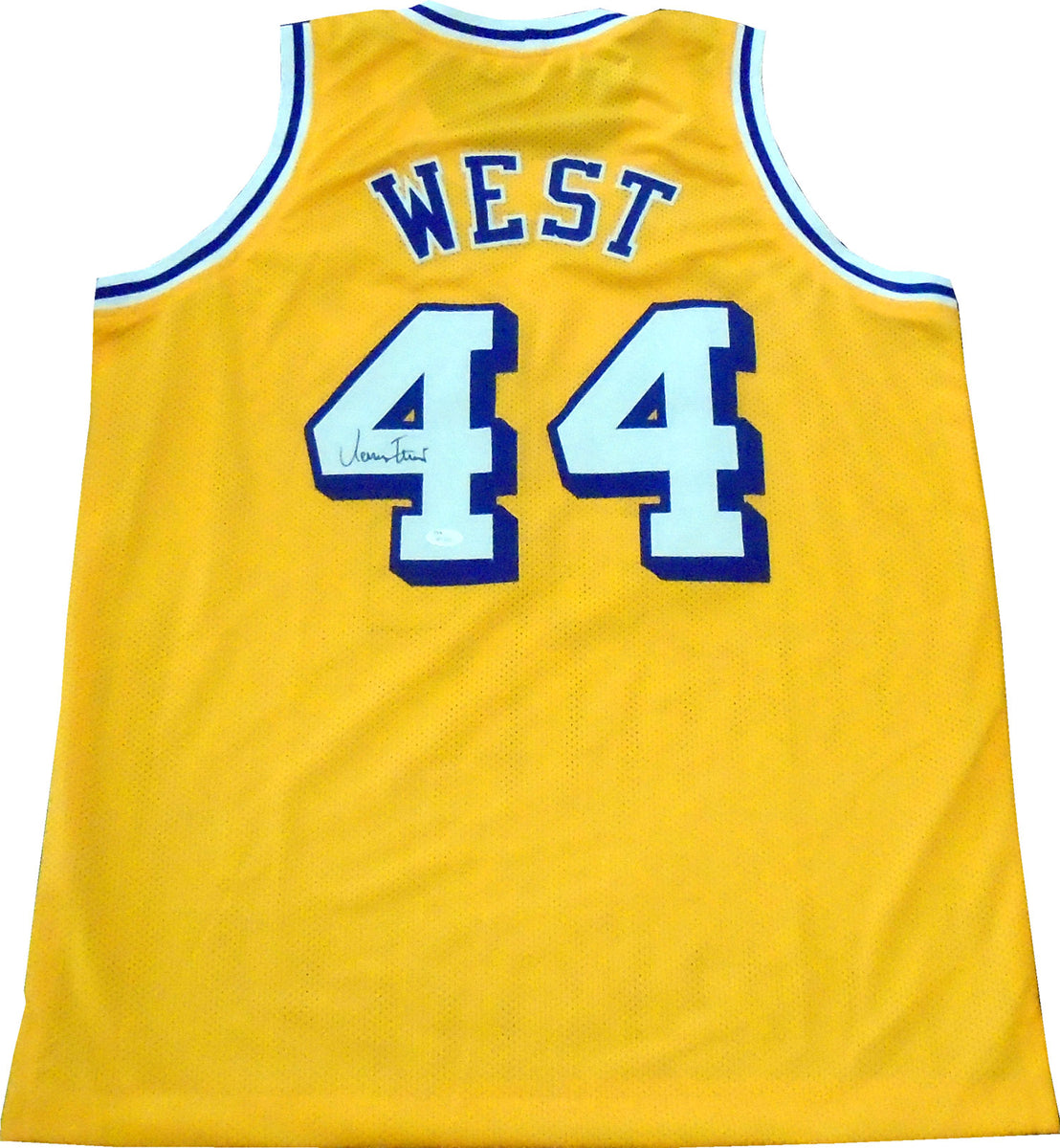 sports shoes 7f875 f0a5e Jerry West Autographed Los Angeles Lakers Jersey (JSA)