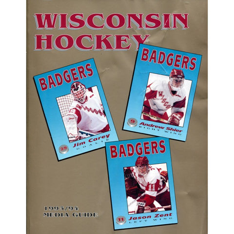 1993 - 1994 Wisconsin Badgers Unsigned Media Guide