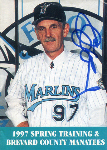 Jim Leyland Autographed 1997 Spring Training Schedule