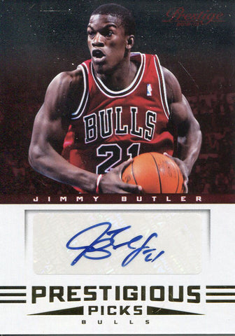 Jimmy Butler Autographed 2012 Panini Prestige Rookie Card