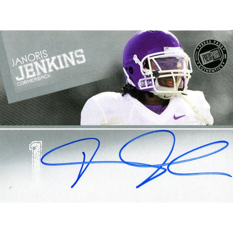 Janoris Jenkins Autographed 2012 Press Pass Rookie Card