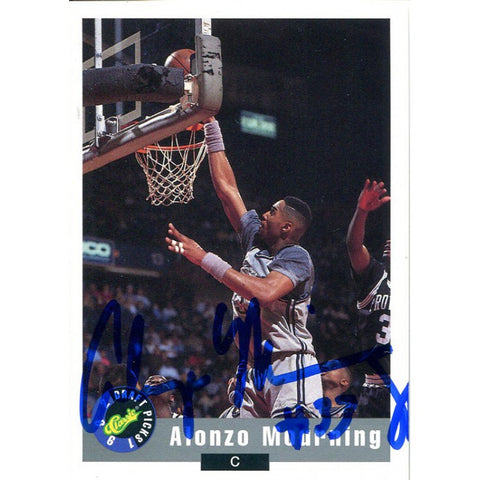 Alonzo Mourning Autographed 1992 Classic Card