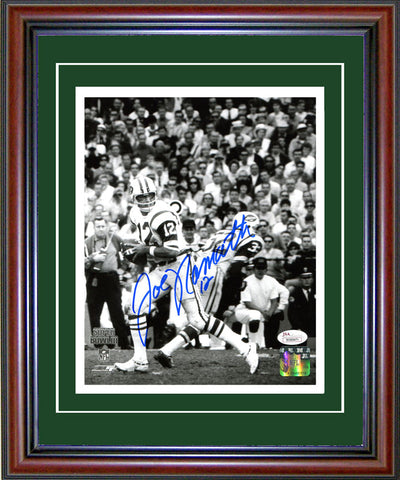 Joe Namath Autographed Framed 8x10 Photo