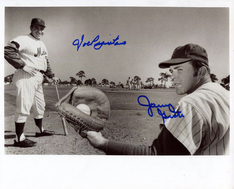 Joe Pignatano and Jerry Grote Autographed 8x10 Photo