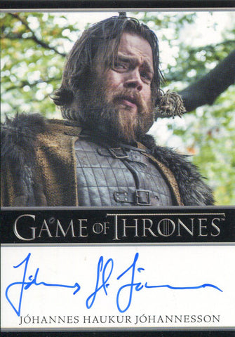 Johannes Haukur Johannesson Autographed 2017 Game of Thrones Card