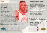 Josh Smith Autographed 2004 Upper Deck Rookie Jersey Card back