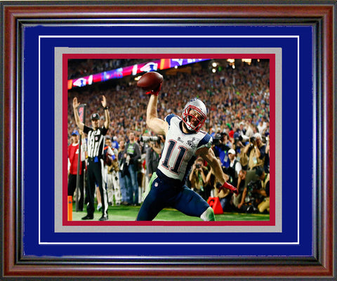 Julian Edelman Unsigned Framed Celebrating 8x10 Photo