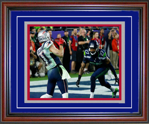 Julian Edelman Unsigned Framed Super Bowl XLIX Touchdown 8x10 Photo