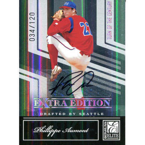 Phillippe Aumont Autographed 2007 Donruss Elite Card