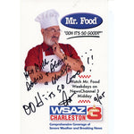 Mr. Food Autographed Recipe Sheet