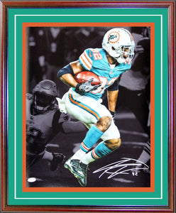 Kenyan Drake Autographed Framed 16x20 Blackout Photo (JSA)