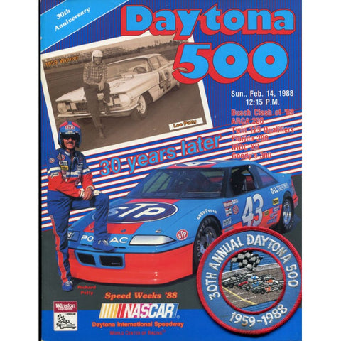 Daytona 500 Official Souvenir Program 1988