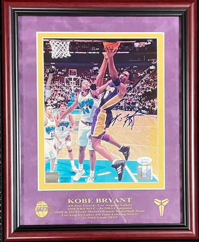 Kobe Bryant Autographed Framed 8x10 Photo (JSA)