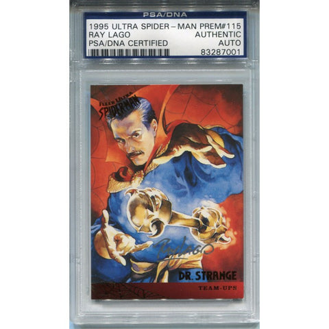 Ray Lago Autographed Dr. Strange Ultra Card 1995
