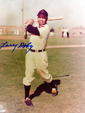 Larry Doby Autographed 8x10 Cleveland Indians Photo