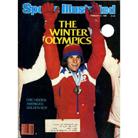 Eric Heiden Unsigned Sports Illustrated Magazine - February 25 1980